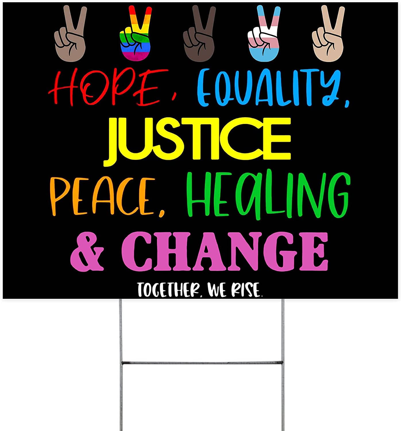 Hope Equality Justice Peace Healing Ranking TOP1 Change OFFicial shop Garden R Waterproof