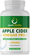 Raw Apple Cider Vinegar Complex 1300MG with Turmeric Ginger Probiotics 200 Billion Prebiotics Cayenne Pepper Turmeric Ginger Black Pepper Flaxseed – 120 Vegan Certified Capsules UK Made Estimated Price : £ 14,95