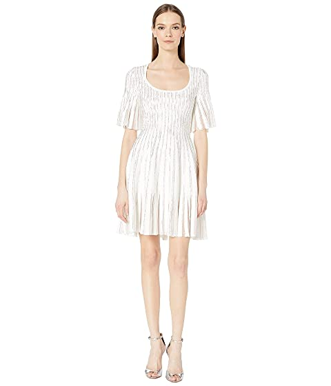 Embroidered Radiant Stripe Dress by Zac Posen