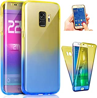 Uposao Samsung Galaxy A8 Plus 2018 silikonfodral, fram och bak hel kropp skyddande fodral för Samsung Galaxy A8 Plus 2018,...