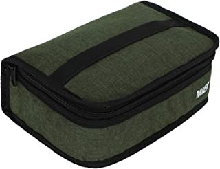 MIER Portable Thermal Insulated Cooler Bag Mini Lunch Bag for Kids, Army Green