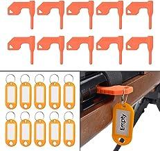 Pridefend Universal Gun Chamber Safety Flag for Rifle Handgun Shotgun with Bonus DIY Key Chain Tags, Pack of 10 Orange