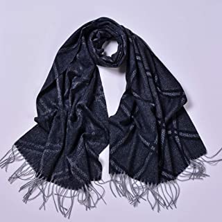 Women's Scarves, Solid Color Ladies Fashion Scarves Europe and The United States Street Ethnic Autumn and Winter Thick Travel Shawl Warm Scarf Size 68 * 190Cm