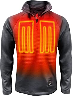 5V Battery Heated 1/2 Zip Pullover Shirt – Men's Pullover Shirt with Tri-Zone Heating System, Touch-Button Control Technology, Built-in Heating Panels