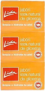 Lida - Jabón pastilla glicerina 3 unidades
