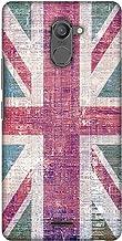 AMZER Slim Designer Snap On Hard Shell Case for Infinix Hot 4 Pro - UK Flag- Wood Texture