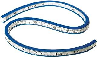 Westcott TC-385 Règle flexible, 40 cm, blanc/bleu