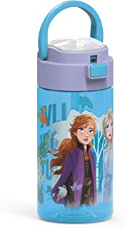 Zak Designs Disney Frozen 2 Anna & Elsa Durable Plastic...