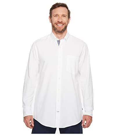 Nautica Big & Tall Big Tall The Hitch Long Sleeve Oxford Woven Shirt (Bright White) Men