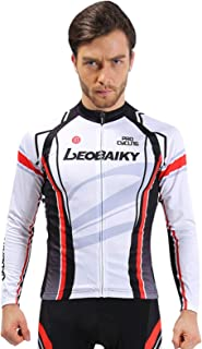 4651c160e Aooaz Cycling Clothes Suit Long Sleeve Mountain Bike Shirt Tights Biking  Outfit White Size XXXL Sport Gift