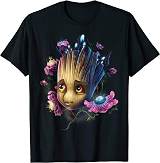 Guardians Of The Galaxy Groot Flowers Graphic T-Shirt