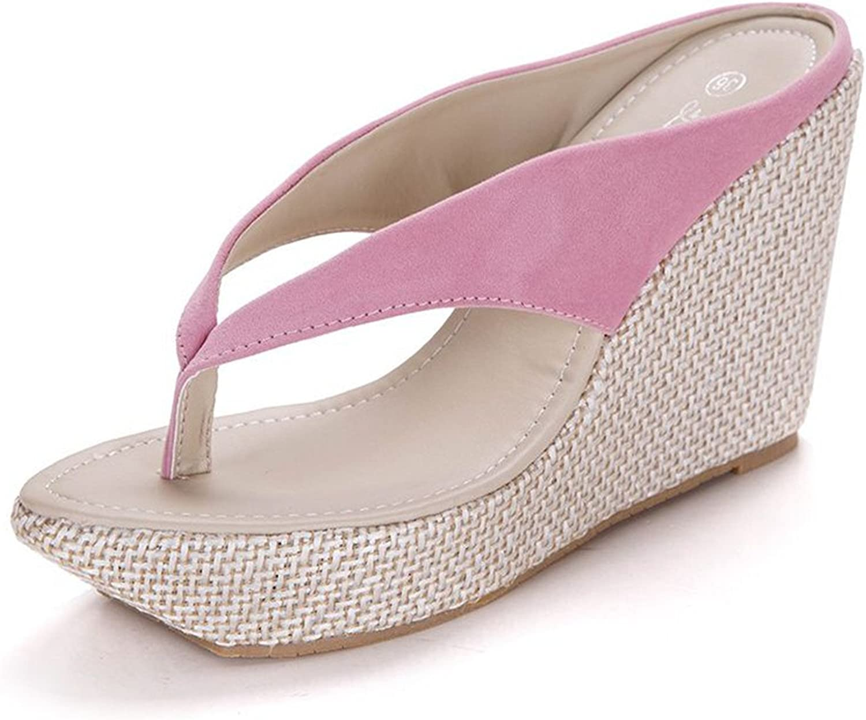 shoes Sandals New Women High Heels Flip Flops Fashion Platform Wedges Sandals Bohemia Beach Slippers
