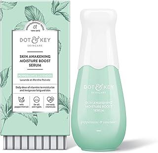 Dot & Key Skin Awakening Moisture Boost Face Serum, Vitamin C, B3, E, Argan Oil and Shea Butter Face Serum For Glowing Skin - Paraben Free