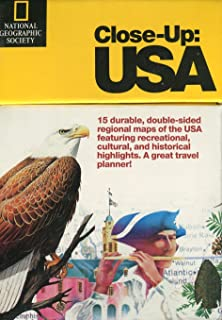 Close-up USA, 15-part Vintage Map Set by National Geographic, 1996