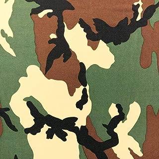 ITY Fabric Camouflage Print Polyester Lycra Knit Jersey 2 Way Spandex Stretch 58