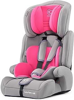 Kinderkraft Kinderautositz COMFORT UP, Autokindersitz, Autositz, Kindersitz, Gruppe 1/2/3 9-36kg, 3-Punkt-Sicherheitsgurt, Einstellbare Kopfstütze, ECE R44/04, Rosa