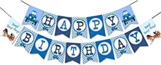 Little Blue Truck Happy Birthday Banner Party Supplies For Kids and Adults Birthday Party Decorations Set of 1