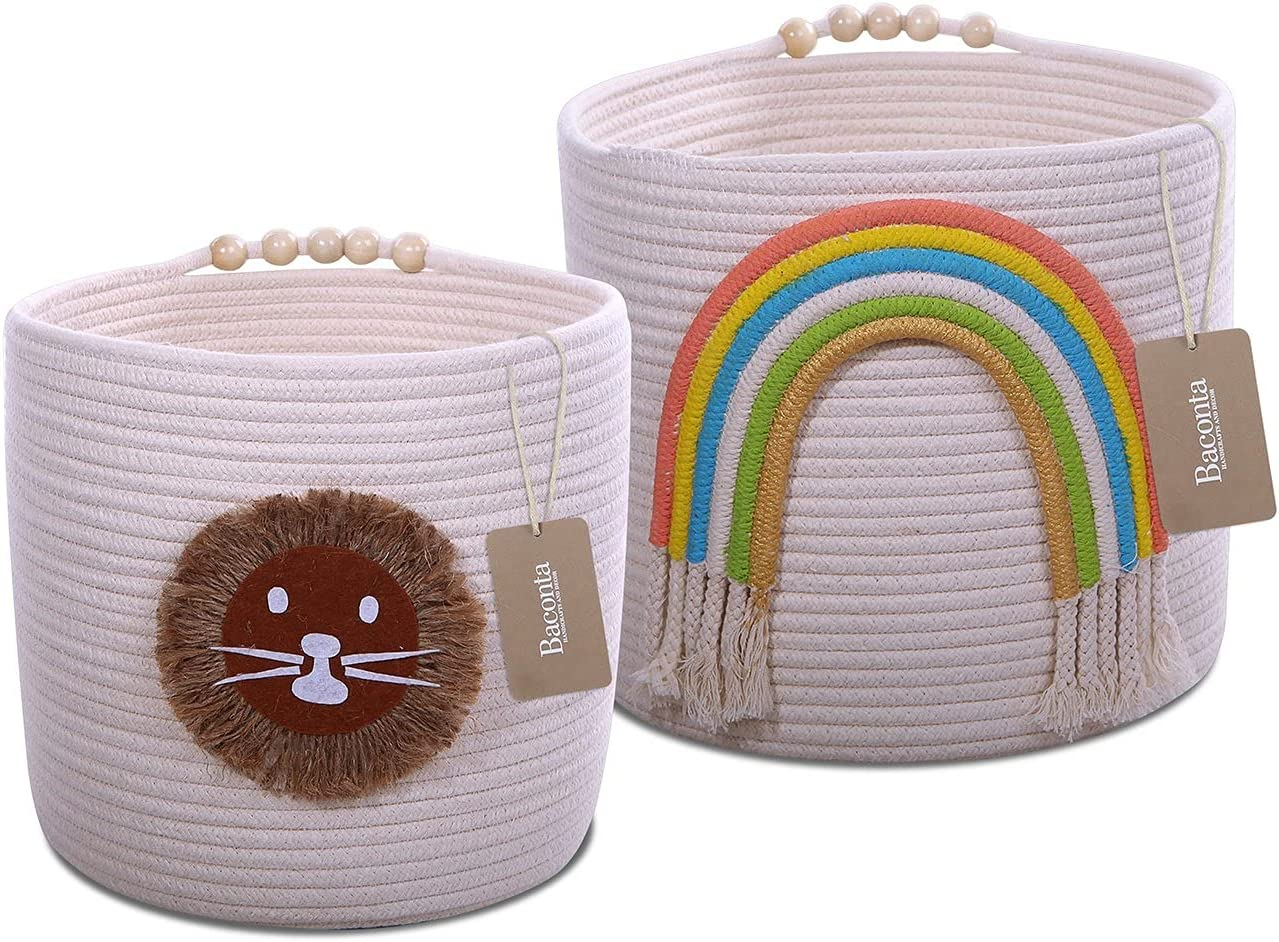 Baconta Courier shipping free shipping Laundry Basket - Storage Rope Woven Cotton Ranking TOP20