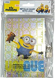 minion diary with lock