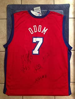 Lamar Odom 2002-03 team signed Los Angeles clippers jersey - 100% authentic ! - Autographed NBA Jerseys
