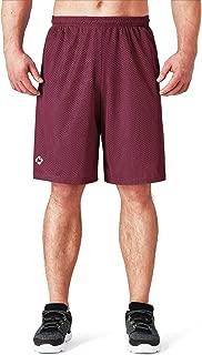 "NAVISKIN Men's 10"" Quick Dry Running Workout Mesh Shorts Side Pocket"