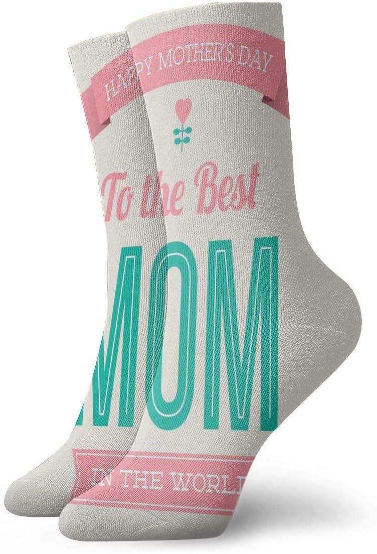 Unisex Casual Mother's Day Socks Moisture Wicking Athletic Crew Socks