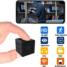 $40 » WiFi Hidden Spy Camera Wireless Small Spy Security Camera, HD 1080P Remote Live Streaming via iOS/Android Phones,Motion Detection Record, 24H Night Vision Viewing for Home Indoor Outdoor Mini Cam