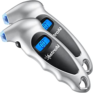 AstroAI 2 Pack Digital Tire Pressure Gauge 150 PSI 4 Settings for Car Truck Bicycle with..