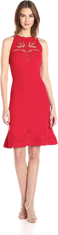 Elie Tahari Womens Lauren Sweater Dress Dress