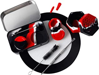 Silicone Wax Engraving Travel Set with Non-Stick 5ml Black red Silicone Container + 1 4.8