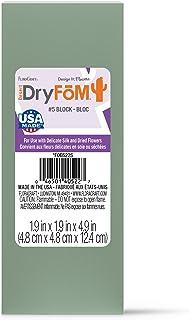 FloraCraft Floral Dry Foam Block 1.8 Inch x 1.8 Inch x 4.8 Inch Green