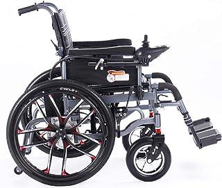 Silla eléctrica plegable de la silla de ruedas de la rueda de la rueda eléctrica potencia de la movilidad pesada potencia portátil motorizada para ancianos y discapacitados (ancho de asiento de 46 cm)
