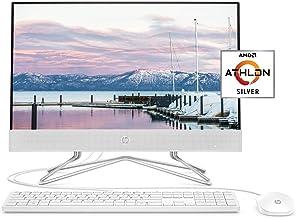 HP 22-inch All-in-One Desktop Computer, AMD Athlon Silver 3050U Processor, 4 GB RAM, 256 GB SSD, Windows 10 Home (22-dd001...