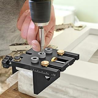 HUKOER Doweling Jig Master Kit Pocket Gat Jig Kit Tool,3 in 1 Houtbewerking Doweling Jig Kit met Positioning Clip Houtbewe...