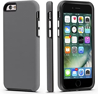 CellEver iPhone 6 / 6s Case, Dual Guard Protective Shock-Absorbing Scratch-Resistant Rugged Drop Protection Cover for Apple iPhone 6 / 6S (Slate)