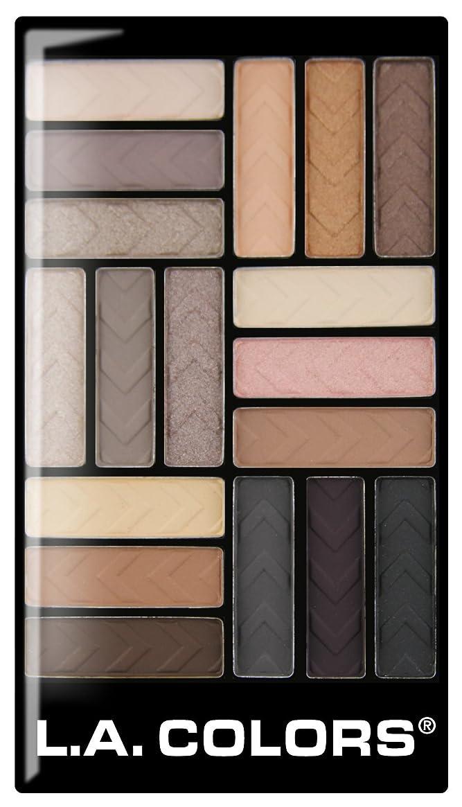 放送オフセットイディオムL.A. COLORS 18 Color Eyeshadow - Downtown Brown (並行輸入品)