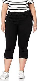 Women's Plus Size Flex Motion Regular Fit 5 Pocket Capri...