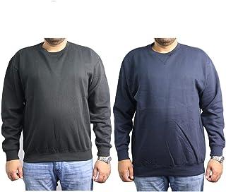 Mens Plain Sweatshirt Cotton Heavy Blend Crew Neck Sweater Blank Pullover