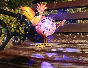Metal Solar Chicken - Metal Chicken-Funny chicken Garden Statue- Lawn Ornaments-Indoor Outdoor Decorations for Patio Yard Lawn Ornaments Gift, Yellow