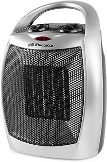 Orbegozo CR 5016 - Calefactor cerámico, 2 niveles de potencia, protección contra sobrecalentamiento, asa para transporte, función ventilador, 1500 W