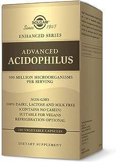 Solgar Advanced Acidophilus, 100 Vegetable Capsules - Supports Healthy Intestinal Flora - 500 Million Microorganisms Per S...