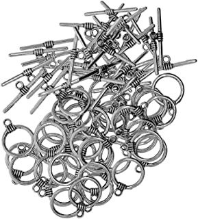 Prettyia 50 Set Toggle Clasp For Jewlery Making DIY Crafts Finding 11x 26mm