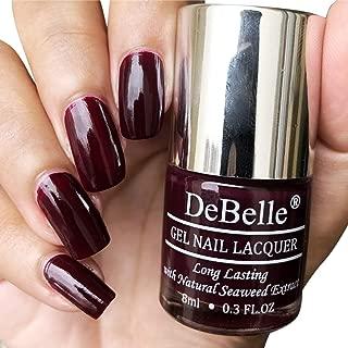DeBelle Gel Nail Lacquer Glamorous Garnet - 8 ml(Wine Red Nail Polish)
