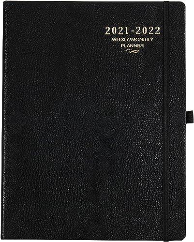 Agenda 2021 2022 A4 - Semainier 210 x 297 mm - De juillet 2021 à juin 2022 - 24 pages - Noir