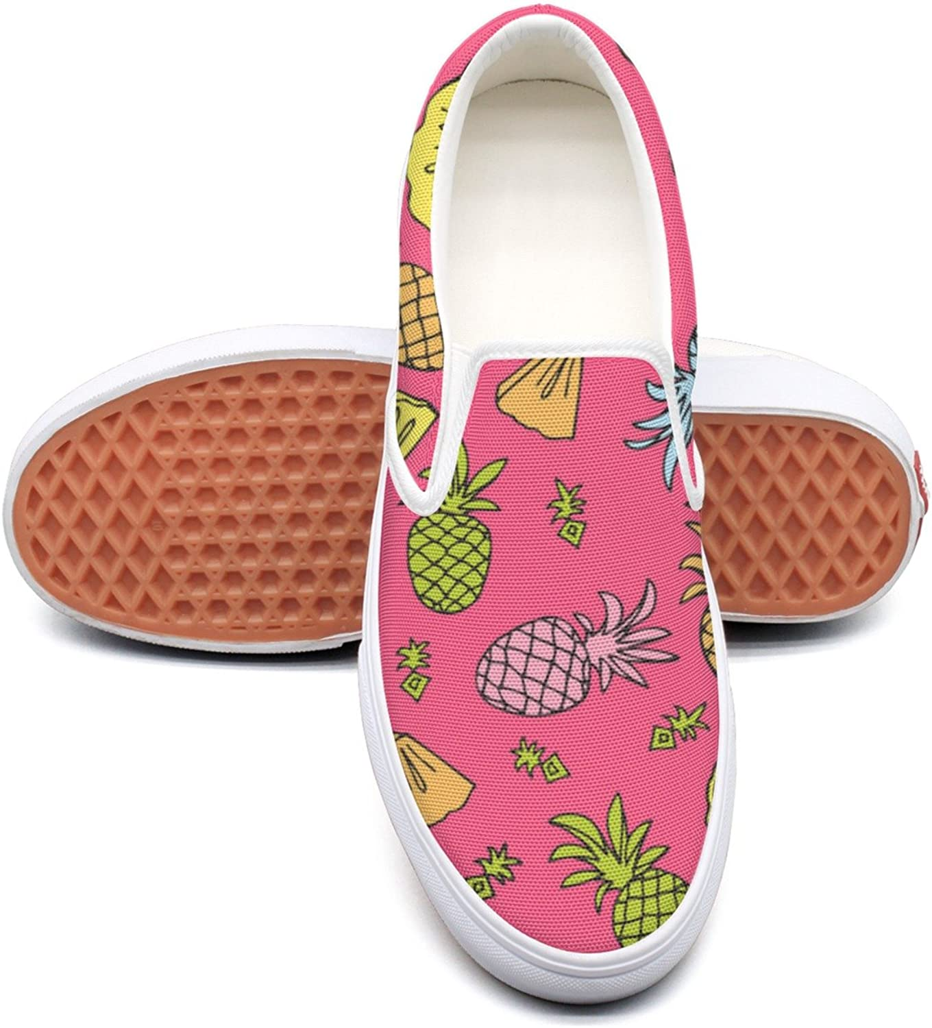 Hjkggd fgfds Casual Tropical Fruit Pineapple Mix Women's Canvas shoes