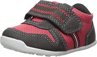 Carter's Every Step Boys' Stage 3 Walk, Jamison-WB Sneaker, Red/Black, 4.5 M US (12-18 Months)