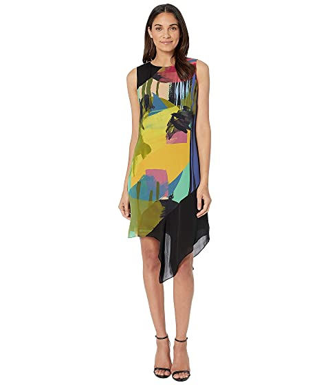 f5957a0925e Nicole Miller Abstract Paint Asymmetrical Dress at Zappos.com