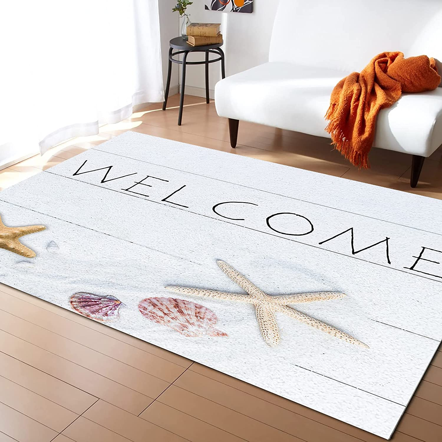 MuswannaA Area Rugs for Max 83% OFF Living Ocean Summer San Francisco Mall Room Bedroom Welcome
