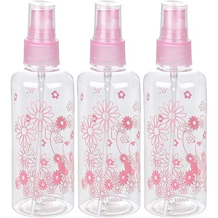 WORISON 100ml Empty Cute Reusable Refillable Fine Mist Sprayer Spray Bottle Atomizer with Ultra-Fine Mist Pump for Beauty, Outdoors, Travel Purposes - 3 Pc (Random Colour)