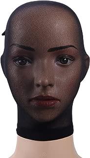 BESTOYARD Strümpfe Kopfbedeckungen Strumpfhosen Maske Schwarz Atmungsaktiv Unisex Kopf Transparent Strümpfe Maske Gesicht Abdeckung Maske für Erwachsene Party Cosplay (Schwarz)